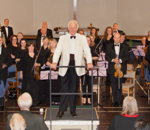 John Hobbs - Musical Director pictured at the concert The Creation March 2015