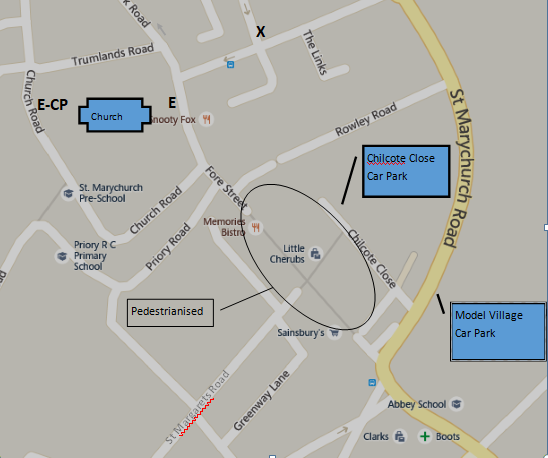 Map of St Marychurch